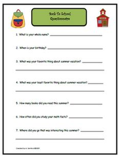 First Day of School ideas. I'm always looking for some other ones! :)