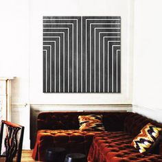 large black and white line painting / sfgirlbybay