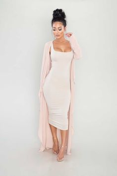 A chiffon duster featuring a drapey open front, dual front pockets, belted waist, and a longline silhouette. - Also available in other colors polyesterHand wash cold Midi Dress Outfit, Dress Outfits, Dress Up, Fashion Dresses, Classy Outfits, Chic Outfits, Trendy Outfits, Fall Outfits, Spring Summer Fashion