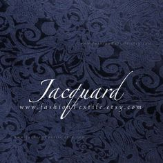 Navy Jacquard Fabric by metre/ yard Jacquard Fabric, Blue Fashion, Blue Fabric, Dark Blue, Yard, Trending Outfits, Rose, Unique Jewelry, Handmade Gifts