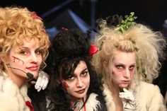 Dianna Agron, Naya Rivera, Heather Morris.  Zombie costumes for the championship game halftime show in season 2.  One of my top fave Glee performances.