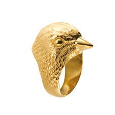 Gold Plated Bird Ring