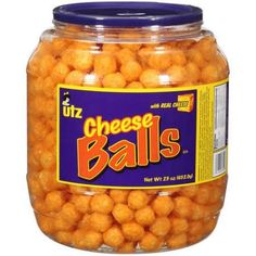 Utz Cheese Balls Snack Barrel, 23 oz Tub