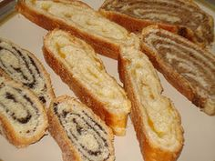kolachi - bread with poppy seeds, apricot jam, or nut filling.