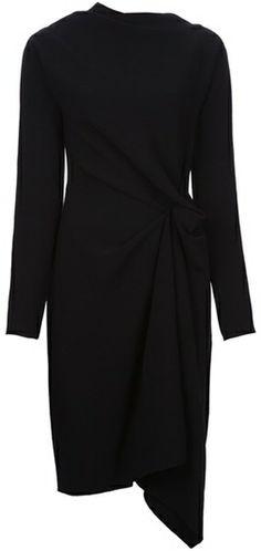 Draped Asymmetric Dress - Lyst
