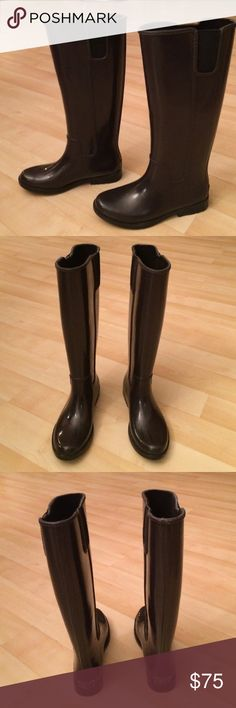Dark purple Michael Kors rain boots Dark purple Michael Kors rain boots. Great condition. MICHAEL Michael Kors Shoes Winter & Rain Boots