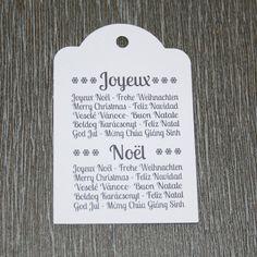 """9 étiquettes cadeau """"Joyeux Noël"""" en langues étrangères : Emballages cadeaux par creerpourvous"""