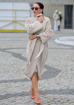 Justyna Steczkowska w płaszczu ARYTON z kolekcji jesień-zima 2012/2013