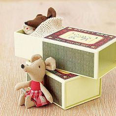 baby mouse in a matchbox toy