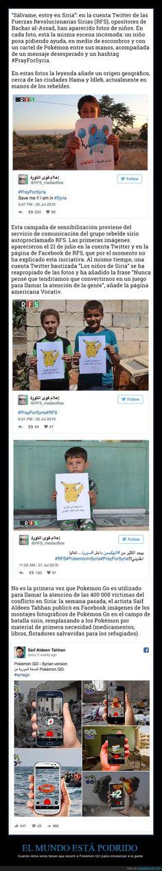 Niños sirios con carteles de Pokémon piden ayuda - Cuando niños sirios tienen que recurrir a Pokémon GO para concienciar a la gente   Gracias a http://www.cuantarazon.com/   Si quieres leer la noticia completa visita: http://www.estoy-aburrido.com/ninos-sirios-con-carteles-de-pokemon-piden-ayuda-cuando-ninos-sirios-tienen-que-recurrir-a-pokemon-go-para-concienciar-a-la-gente/