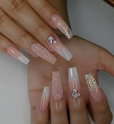20 latest trendy pink color coffin nails styles in autumn and winter if you like pink color coffin nails styles or long nails styles, it must be useful for you, we collected about 20 pink color coffin nails st Acrylic Nails Coffin Glitter, Coffin Nails Ombre, Coffin Shape Nails, Best Acrylic Nails, Gold Nails, Pink Nails, Glitter Nails, Autumn Nails Acrylic, Diamond Nail Designs