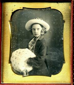 Girl with Large Muff Daguerreotype Vintage Winter Hand Warmer Dag | eBay