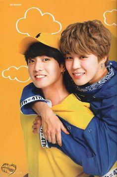 Jimin e Jungkook  Olha que bebês ❤️