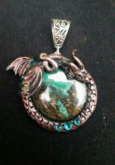 Makosla dragon creations pendant fimo Polymer Clay