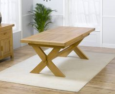 Buy the Bordeaux 200cm Solid Oak Extending Dining Table at Oak Furniture Superstore