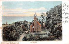Ostseebad Schwarzort Memel Ostpreußen Die Kirche Postkarte 1907