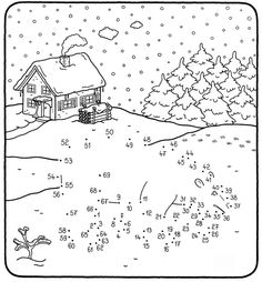 Who is trudging through the snow? If your child numbers from 1 to 69 on our . Handmade Christmas Crafts, Kids Christmas Ornaments, Christmas Colors, Christmas Art, Christmas Activities, Activities For Kids, Colouring Pages, Coloring Books, School Worksheets