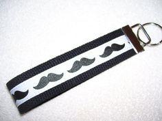 KEY FOBWrist Key ChainMustache by PinkPinsandNeedles on Etsy, $6.00