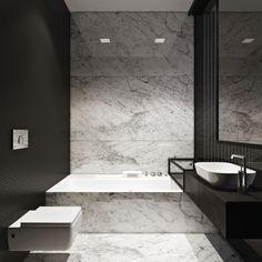 M :: Townhouse by Igor Sirotov Architect #bathroom #marble #carrara