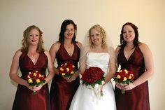 True Bride | Red Bridesmaid Dresses