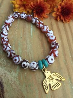 A personal favorite from my Etsy shop https://www.etsy.com/listing/476678598/thunderbird-turquoise-and-agate-stretch