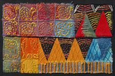 The Republic of Ghana. Beautifully stitched postcards by the talented Dundee Branch of the Embroiderers' Guild.  http://www.embroiderersguild.com