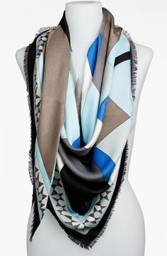 Emilio Pucci 'Fantasia' Triangle Scarf available at #Nordstrom