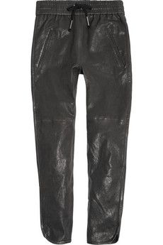 Isabel Marant Daniels leather tapered pants   THE OUTNET