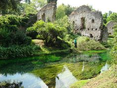 The beautiful Gardens of Ninfa (Giardini di Ninfa) are located in the Lazio region of Italy, about 40 miles south-east of Rome  Google Image Result for http://www.humsci.auburn.edu/pmachine/images/uploads/Ninfa.jpg