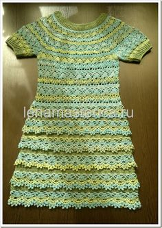 Sidney Artesanato: Vestido de crochet...muito lindo