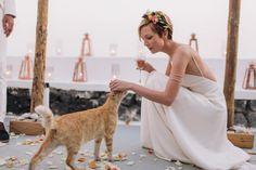 Bohemian & modern wedding in Santorini, Greece | Tie the Knot in Santorini