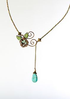 Robin's Egg Waterfall Necklace:  Robin Goodfellow Designs