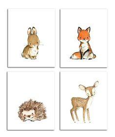 Inspiration pour une chambre de bébé. (Love this Bunny) (http://www.zulily.com/p/bunny-more-woodsie-four-piece-print-set-170488-22599434.html?tid=social_pin_ref_shareviaicon_eventpage_modal_24a7117d6956d7eb62f69c3f99cf1fc9)