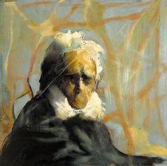 Håkon Gullvåg - portrait of playwright Henrik Ibsen. (Norwegian artist, born in Trondheim, 1959)