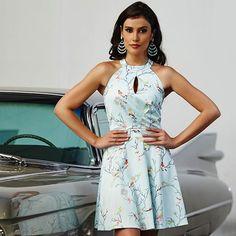 Lady like: estilo e conforto em um único vestido com estampa exclusiva, claro! #EvaBella #Verao #Provence
