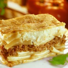 A Traditonal recipe for Pastitsio or Greek Lasagna. A hearty traditional Greek dish.. Pastitsio Recipe from Grandmothers Kitchen.