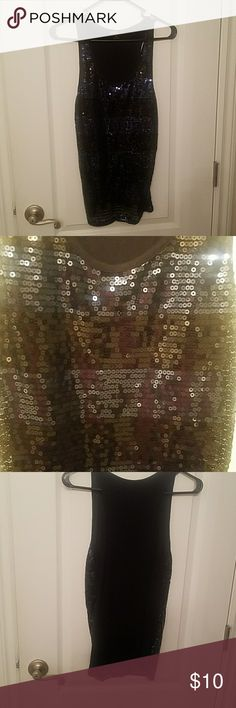 Black and blue sequins tank top Black and blue sequins tank top Forever 21 Tops Tank Tops