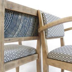 Fauteuil bridge African wax fabric chair par LaMetisse sur Etsy