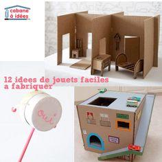 12 idées de jouets à fabriquer à vos enfants | La cabane à idées