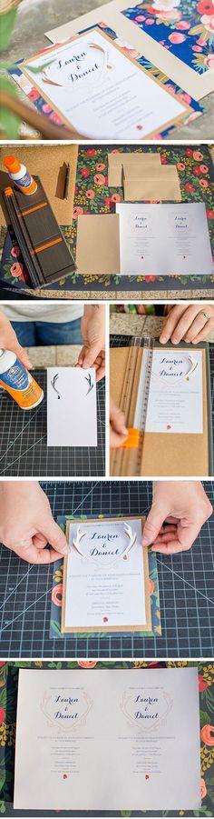 Floral 3D diy wedding invitations