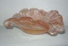 SMALL Especially EXQUISITE Sweet MURANO Art Glass DISH Delicate HUES Lovely FORM