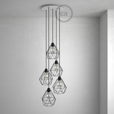 Ronde 35 cm XXL plafondplaat met 5 gaten + accessoires