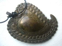 Antique Persian Brass Paisley Belt Buckle