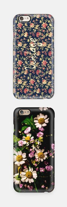 Vintage iPhone and Samsung cases. love these floral designs