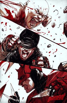 Daredevil - Cinema - Movies and Marvel Comic Universe, Comics Universe, Marvel Art, Marvel Dc Comics, Marvel Cinematic Universe, Comic Book Characters, Marvel Characters, Daredevil Punisher, Superhero Villains