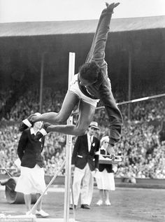 5.51: Alice Coachman Davis' victory in the 1948 Olympic high jump was the result of her gold medal jump of 5 feet six and 1/8 inches high
