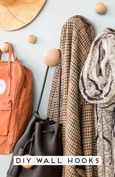Organize Your Entryway with these DIY Wall Hooks