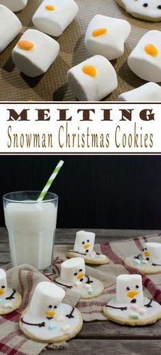 You take your favorite cookie and just decorate it appropriately. Either way, the snowman cookies are a real eye-catcher!