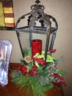 Christmas Lantern arrangement - by Elegance with Attitude