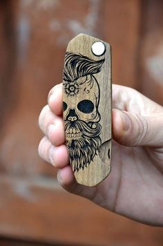 Christmas Boyfriend Gift Sugar Skull Beard Hair Comb Engraved Beard Brush Man Grooming kit Stag Party Bachelor Gift for Guy Brother Dad NEW! Fast shipping to USA. Delivery just 2-4 business days! Order now! ✓ This comb you can use for hair, beard and mustache. It's a great gift or